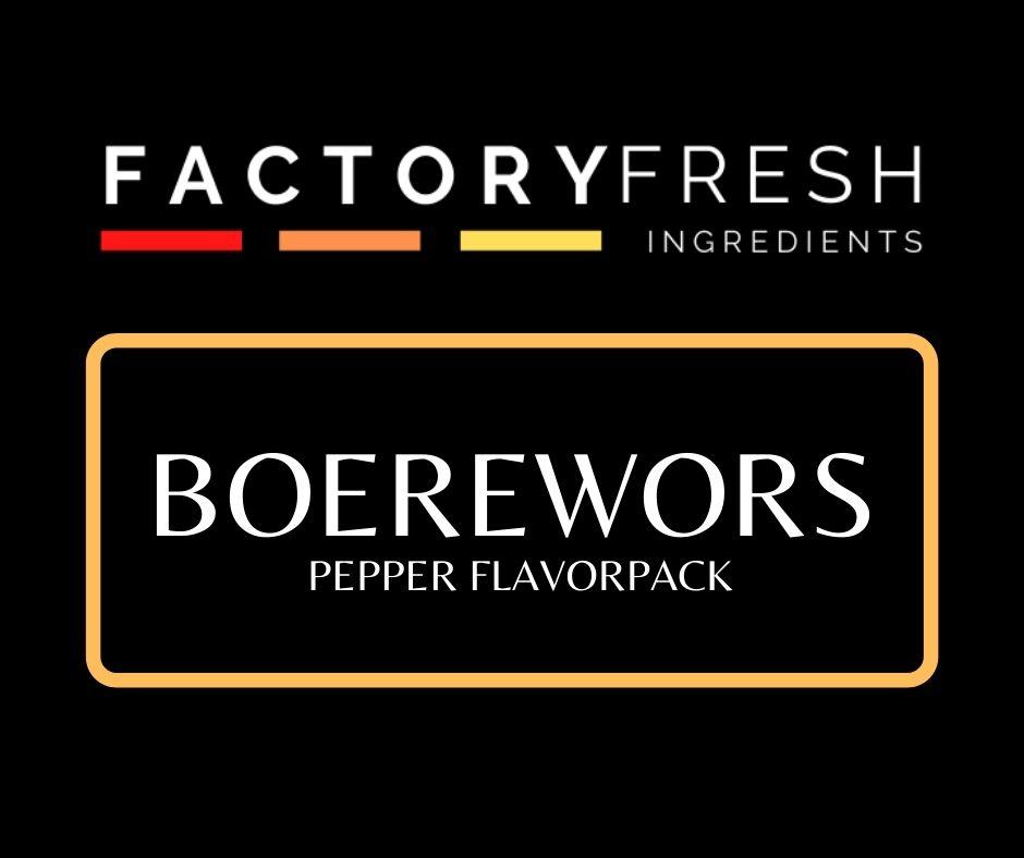 Boerewors Pepper Pack